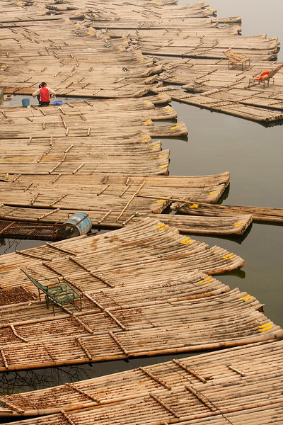 Woman and Skiffs, Yangshuo
