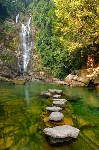 Waterfall, Dingu Shan