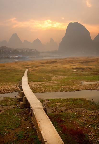 Path to Karst Peaks, Guilin