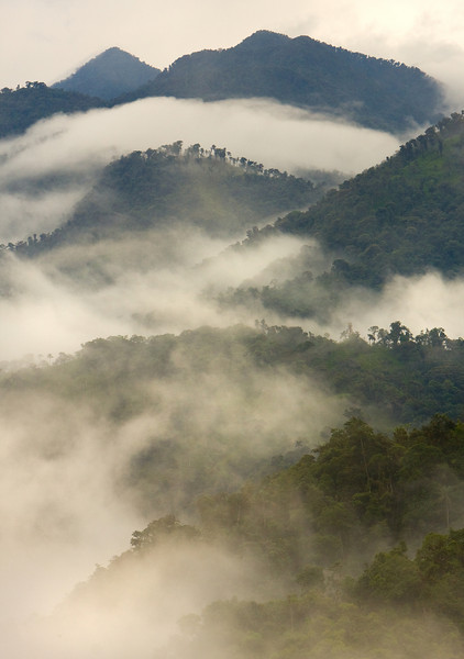 Cloudy Mountain Layers