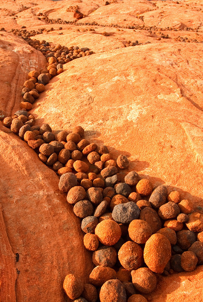 Receding Pebbles, Valley of Fire