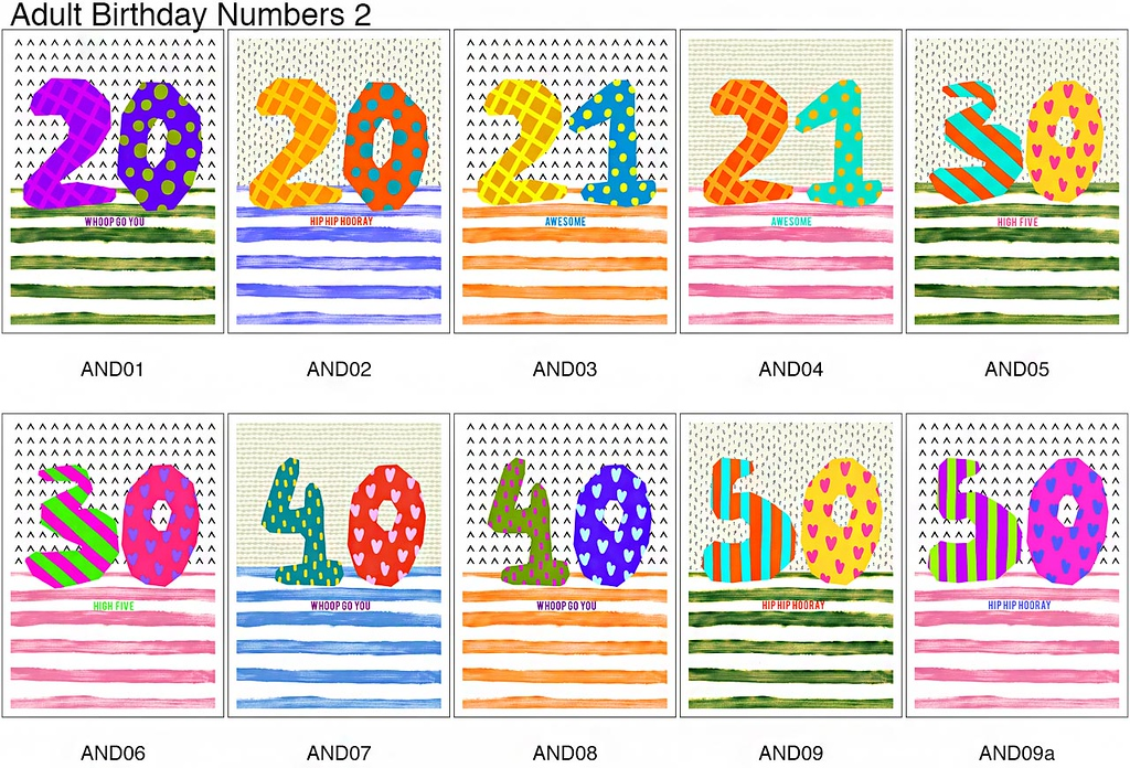Gift - Adult Birthday Range