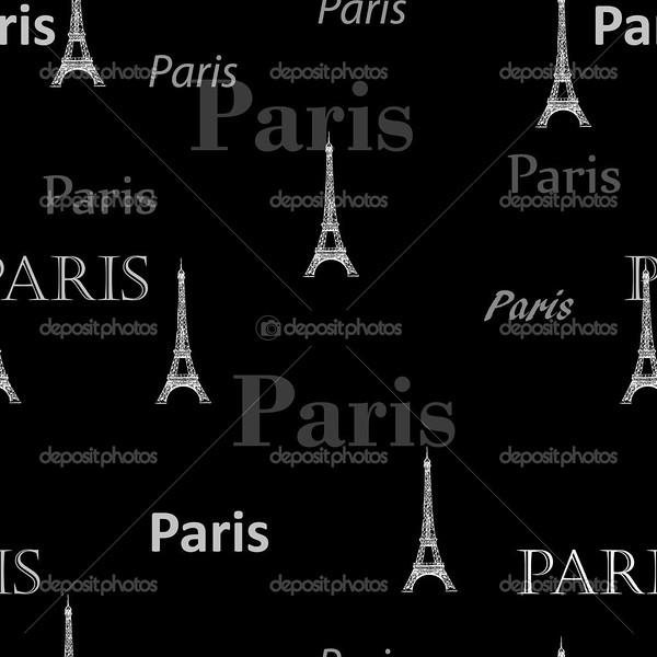 Paris Seamless pattern vector background