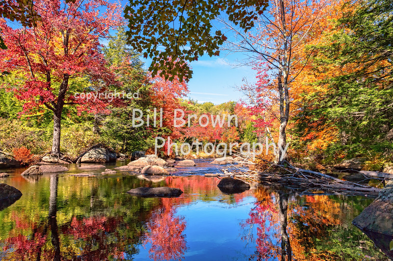 Reflections in a Pool on the Contoocook River