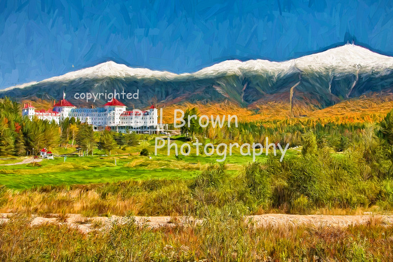 Early Snow Covers Mountain Top