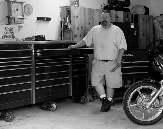 Matt with his mega toolbox