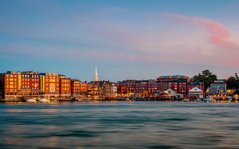Portsmouth at Sunset