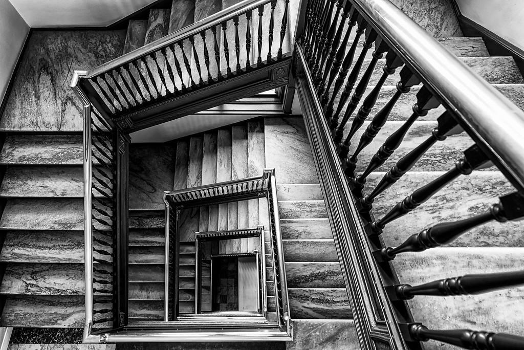 Pioneer Endicott stairwell.