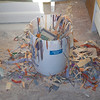 My studio trash can as I finished up the last of 5 large 7-8 foot square compositions for an upcoming show.