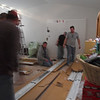 A bunch of blurry people showed up in my studio tonight to install my studio lights.  This is not them installing them.