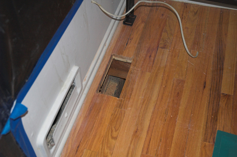 Hole in floor (in case you can't tell)