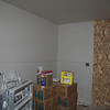 Drywall in the laundry room.