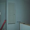 My studio closet door flying on the wall.