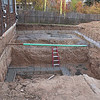 By end of the day the footers were poured.  I'm so bummed I missed the pumper truck for the cement pouring!  I had meetings at work and couldn't get away.  No way I'm going to miss the pouring of the walls.  Jim says he took a lot of photos of the pumper truck so I'll add them in when he sends them.