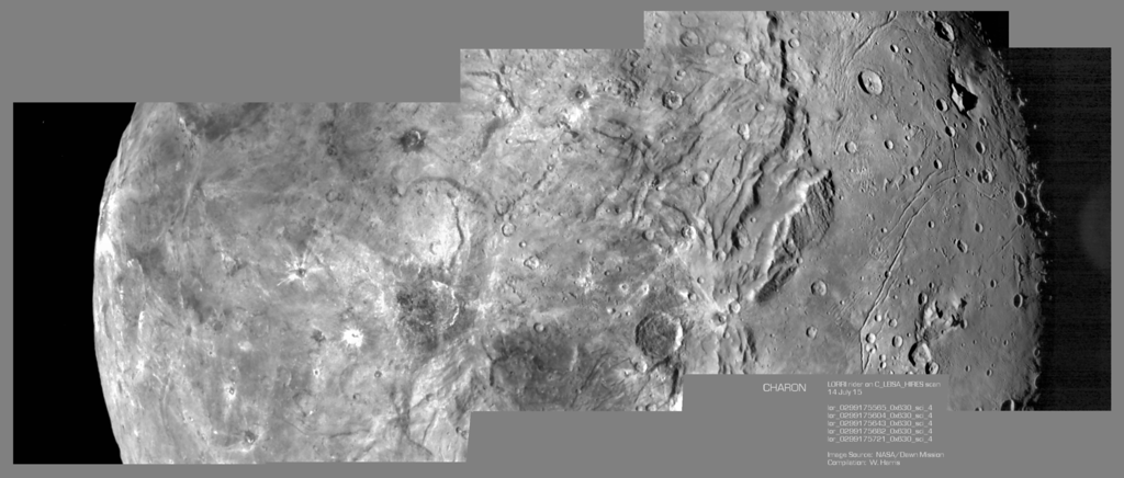 Montage of flyby encounter images of Charon