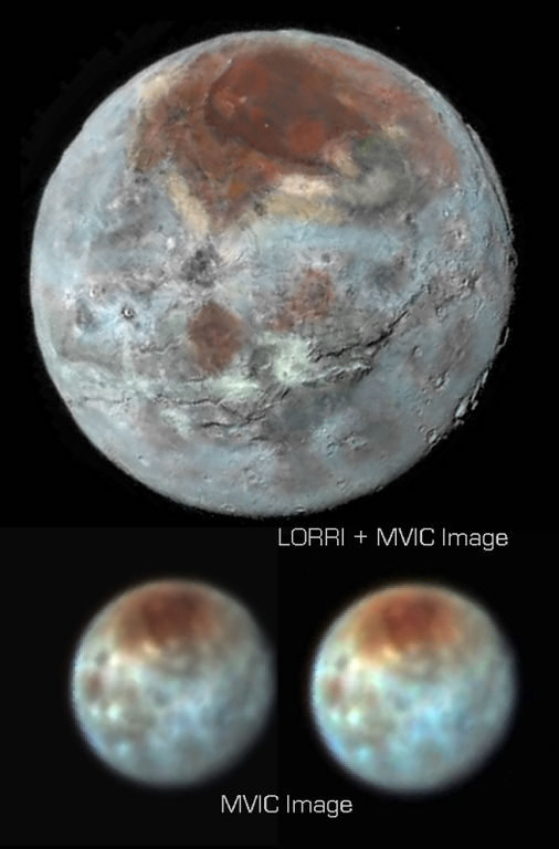 LORRI-MVIC Combined Imagery of Charon