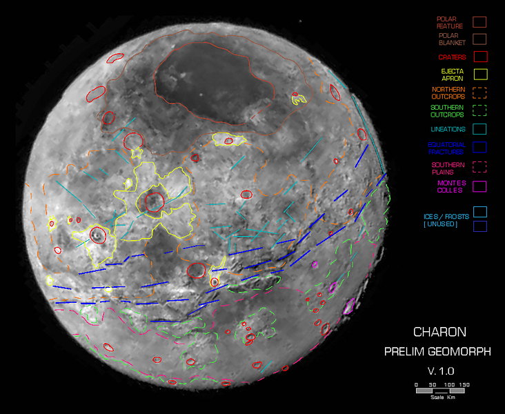 Geomorphology of Charon