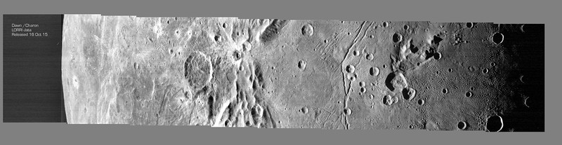 Montage of  encounter images of Charon