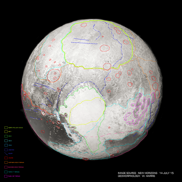 Geomorphology of Pluto