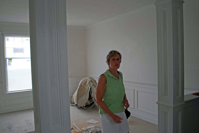 Anne at entry to dining room