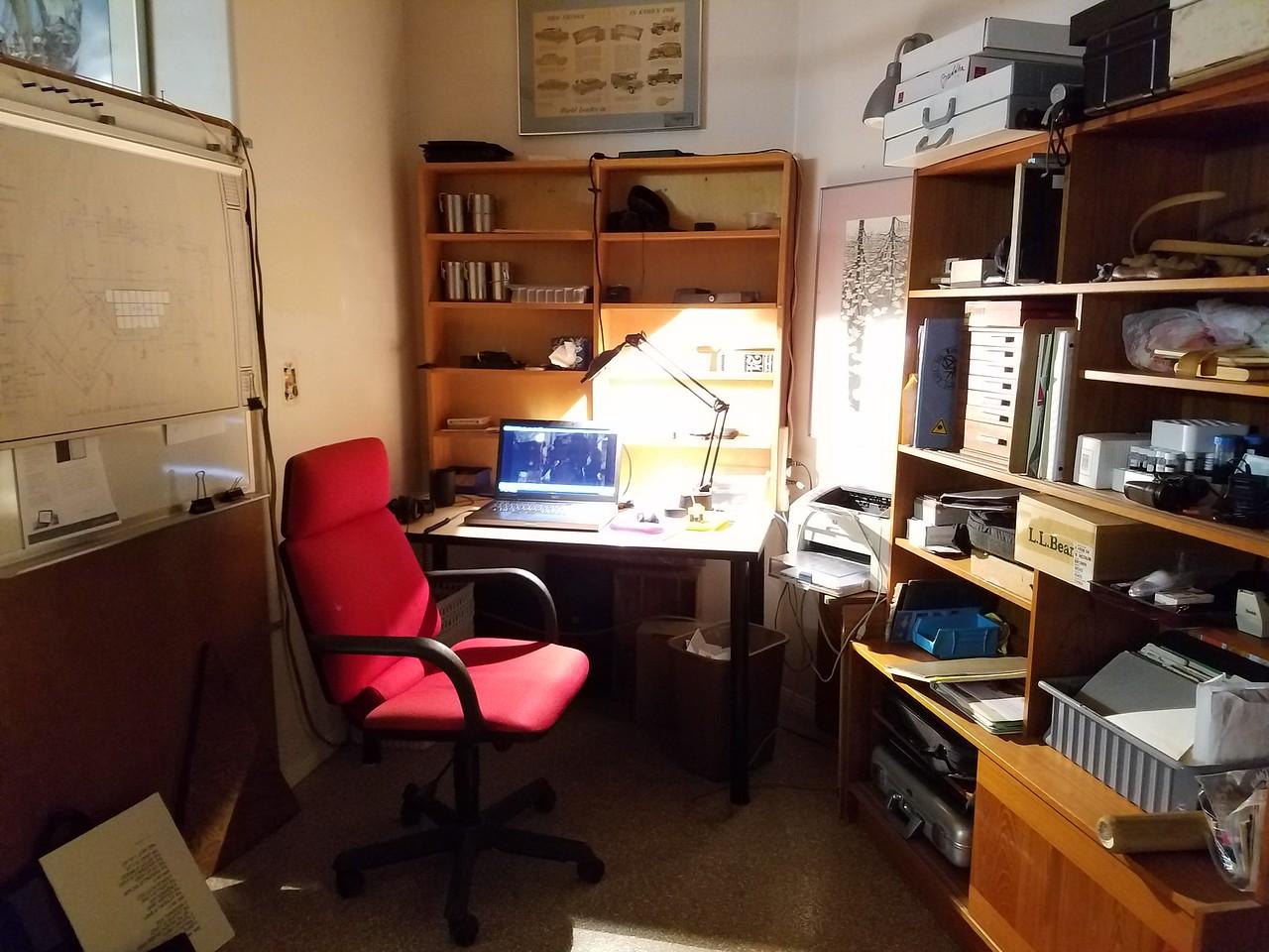 Mark's garage/office.