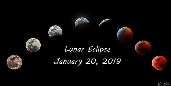 Lunar Eclipse on January 20, 2019