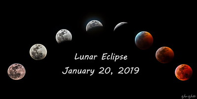 Lunar Eclipse on January 20, 2019