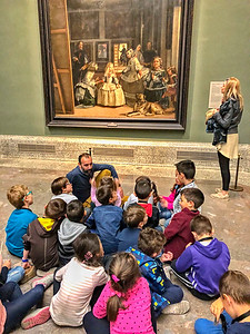Art Lesson in the Prado in the Forbidden Photograph