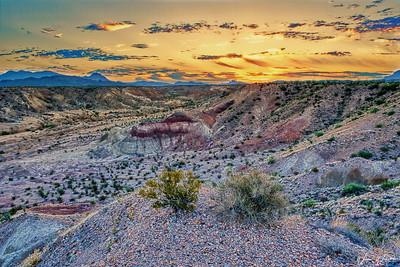 Badlands Sunrise in HDR
