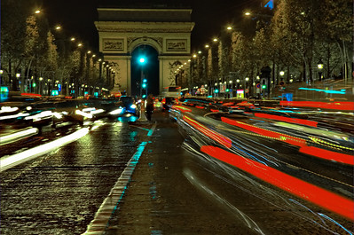 Arch d' Triomphe at Night