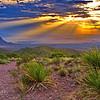 Sotol Vista Sunset in Big Bend National Park