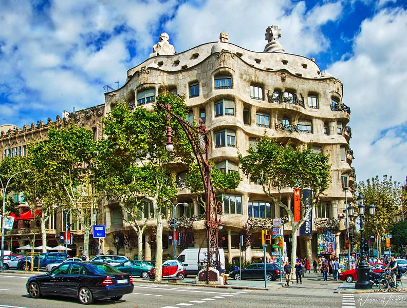 Gaudi's La Pedrera in Barcelona