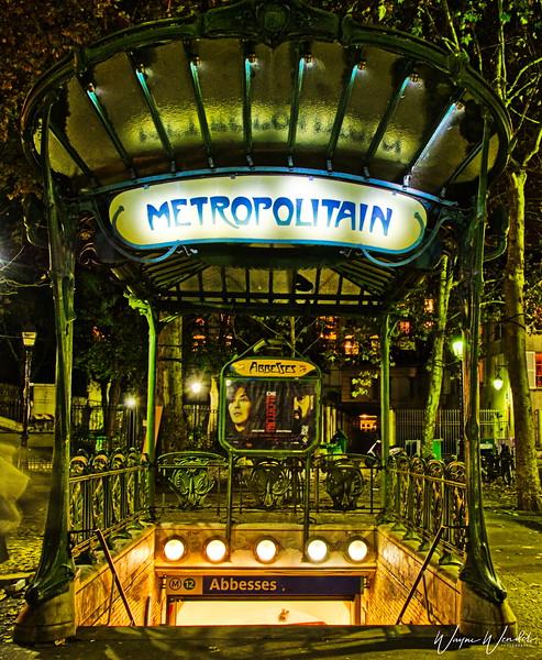 Paris Metro Stop:  Abbesses