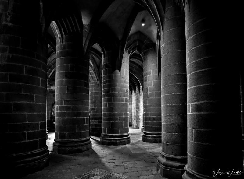 Pillars  in Mont Saint Michel Abbey