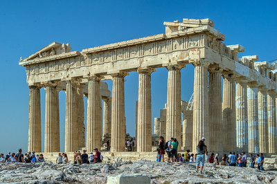 Parthenon:  Full of Tourists & Sunshine