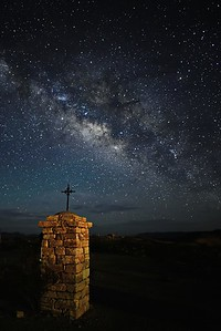 Terlingua Cemetery Entrance & the Milky Way
