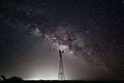 Seminole Canyon State Park Windmill & Milky Way