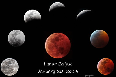 Lunar Eclipse:  January 20, 2019