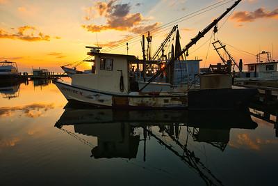 Special K Shrimp Boat in Silhouette