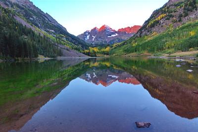 Pinky Peaks:  Maroon Bells in Colorado