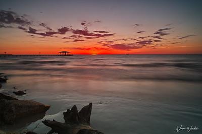 Sunrise at El Jardine Beach, LaPort, TX