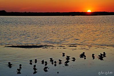 Sunrise at Kemah, Texas
