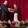 """Zach receiving the President's Award for Excellence from Margaret Beeks Elementary School Principle Mr. Medford.  The award is for  maintaining an """"A"""" average in 5th Grade.  Zach also received the President's award for Physical Fitness!"""