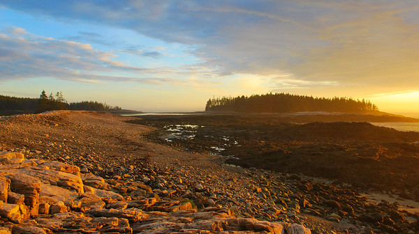 The Golden Hour at Schoodic in Acadia National Park