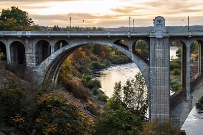 Autumn Under the Monroe Street Bridge