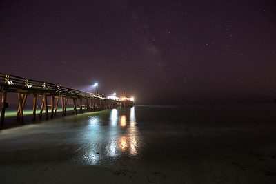 Capitola Wharf Night Sky