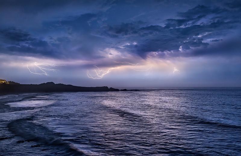 Lightning Storm Over Black Point, Study 2, Sea Ranch, California