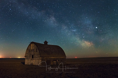 Milky Way over Ritzville Barn