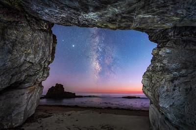 St Orres Beach Sea Cave & Milky Way, Gualala, CA