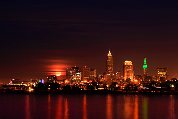 Moonrise over Cleveland